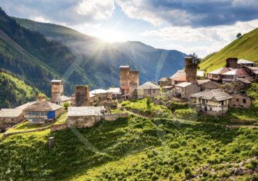 Село Ушгули, Грузия — главная достопримечательность Сванетии.