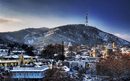 Зимний Тбилиси, Грузия