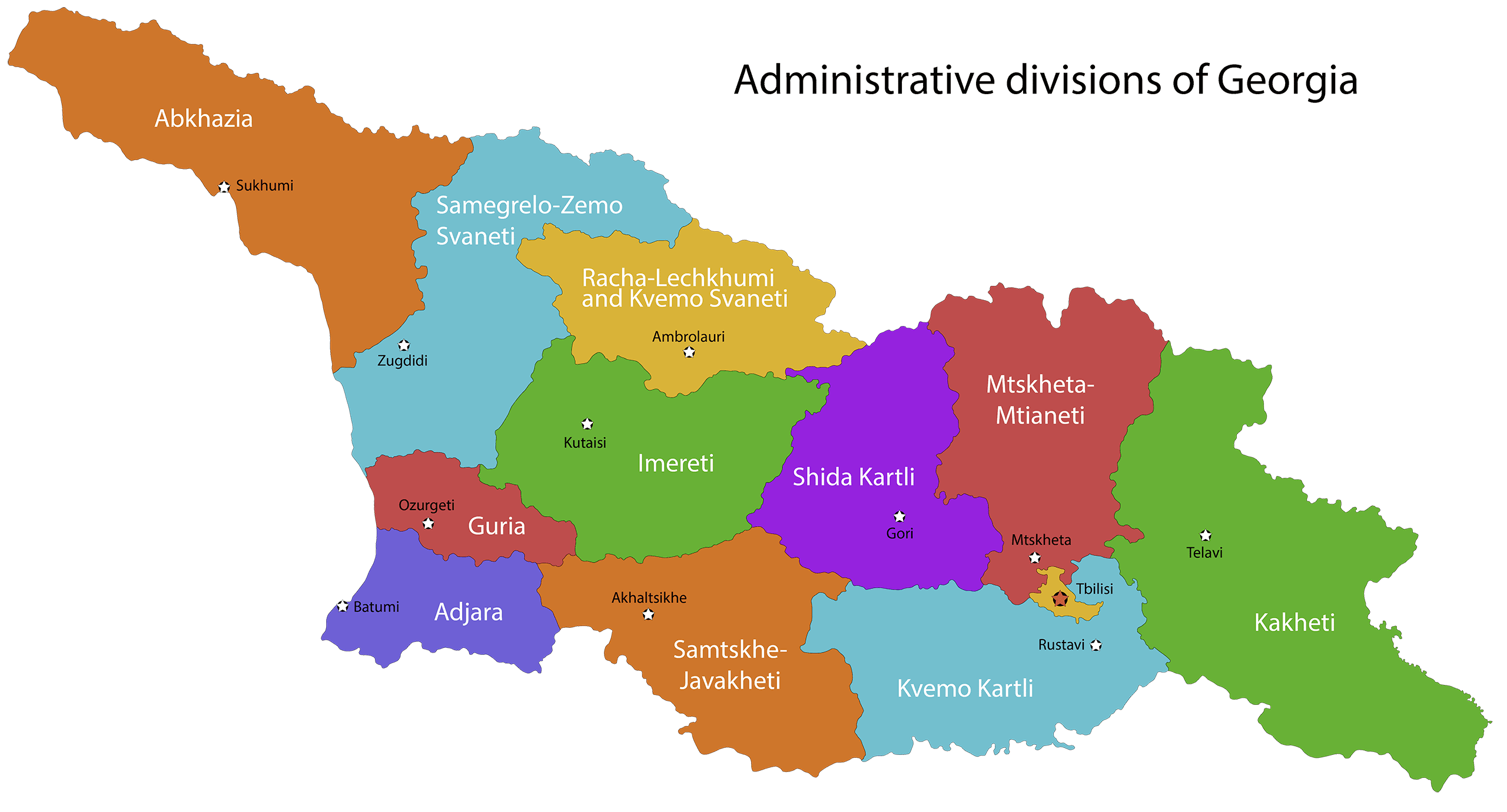 administrative divisions of georgia, Грузия