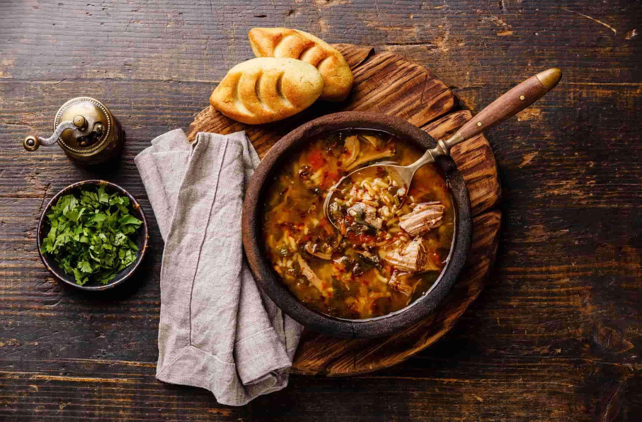 суп харчо, грузинская еда, национальная кухня