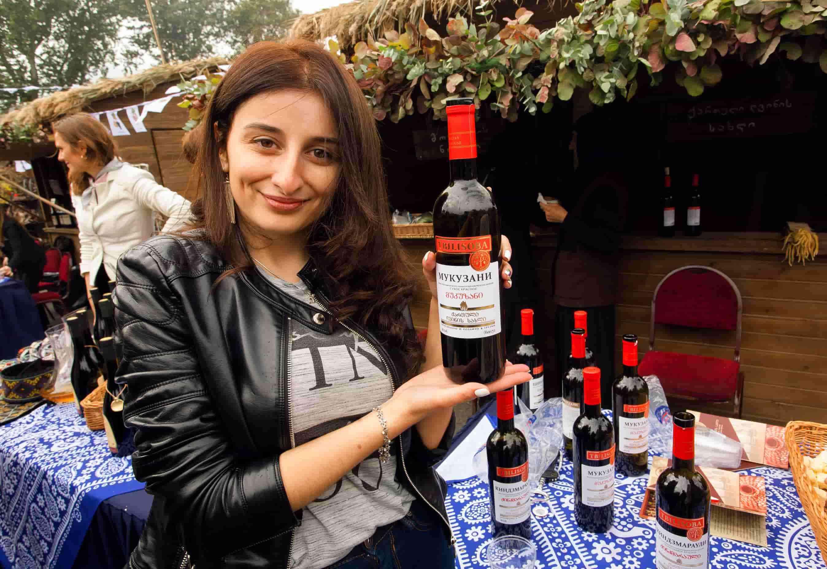 красное вино, мукузани, грузия