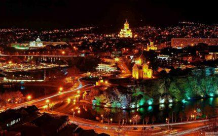ночной Тбилиси, georgia travel