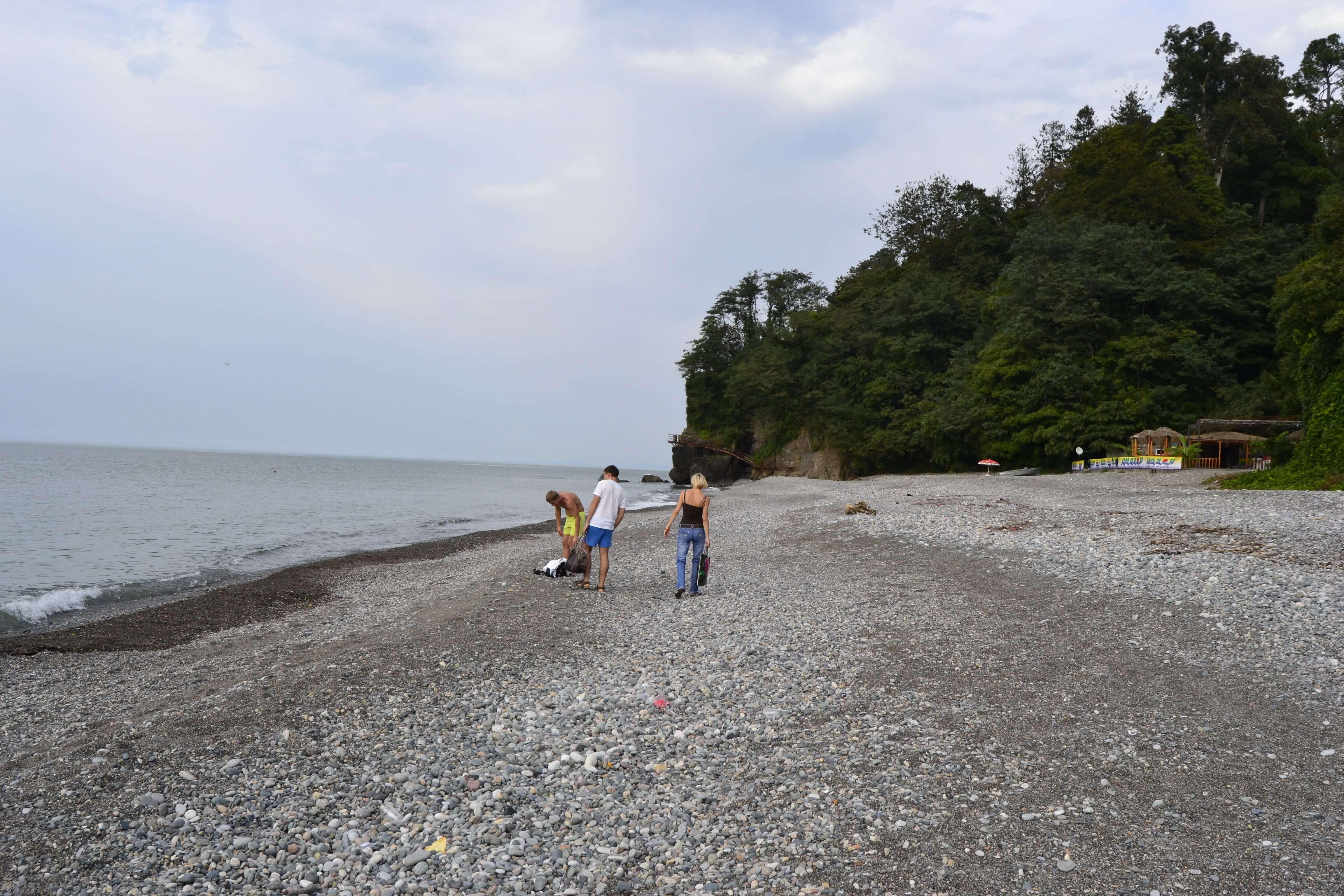 Мцване-Концхи, Батуми, Зелёный мыс, Грузия, пляж, галька