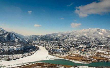 зима, Мцхета, новый год, джвари, грузия