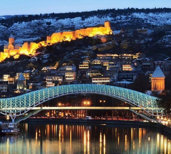 Новый год в Грузии, Новогодняя Грузия, Тбилиси, Новый год в Тбилиси, New Year in Georgia, Мост Мира