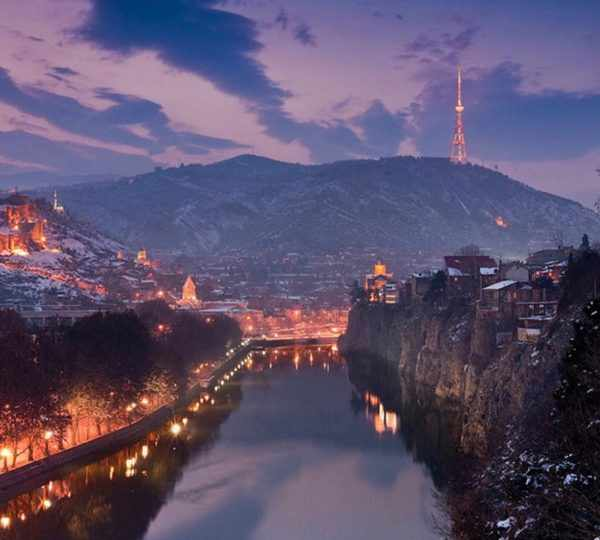 Новый год в Грузии, Новогодняя Грузия, Тбилиси, Новый год в Тбилиси, New Year in Georgia, Метехи
