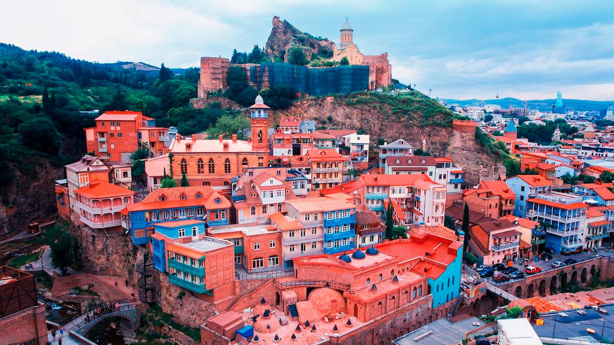 Старый Тбилиси, замок Тбилиси, Нарикала, дома Тбилиси, серные бани Тбилиси, Грузия